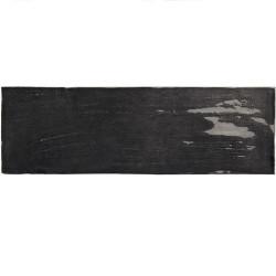 Faience nuancée effet zellige noir 6.5x20 RIVIERA TOURMALINE 25849-  - Echantillon Equipe