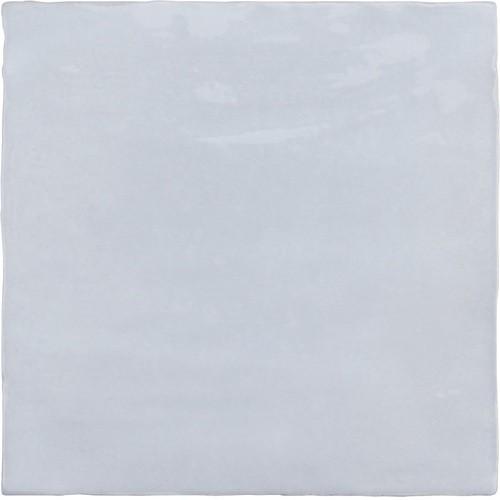 Faience nuancée effet zellige bleu ciel 13.2x13.2 RIVIERA LAVANDA BLUE 25854-   - Echantillon - zoom