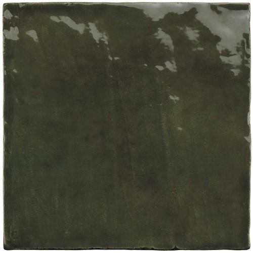 Faience nuancée effet zellige vert 13.2x13.2 RIVIERA BOTANICAL GREEN 25860-  - Echantillon Equipe