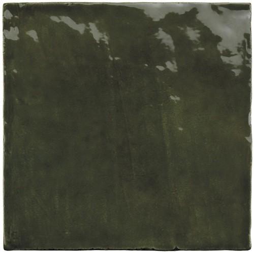 Faience nuancée effet zellige vert 13.2x13.2 RIVIERA BOTANICAL GREEN 25860-  - Echantillon - zoom