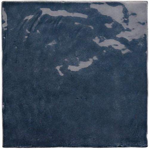 Faience nuancée effet zellige bleu roi 13.2x13.2 LA RIVIERA BLUE REEF 25861-  - Echantillon - zoom