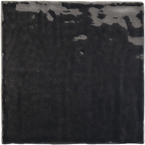 Faience nuancée effet zellige noir 13.2x13.2 RIVIERA TOURMALINE 25862-   - Echantillon Equipe