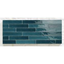 Chevron effet zellige turquoise nuancé 5x25 cm PIASTRELLA TURQUESE MIX -   - Echantillon Natucer