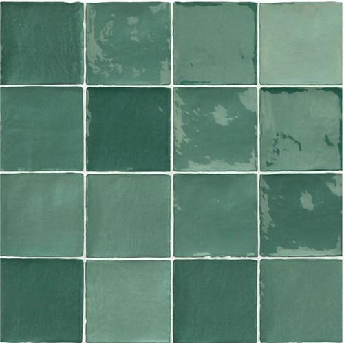 Carrelage effet zellige vert 10x10cm STOW MIX OLIVE -   - Echantillon - zoom