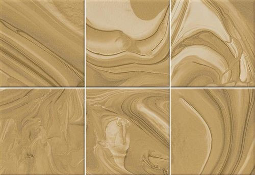 Faïence effet terre mêlée caramel 23x33.5 cm MANKAI CARAMELO -   - Echantillon - zoom