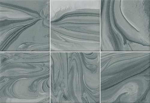 Faïence effet terre mêlée turquoise 23x33.5 cm MANKAI TURQUESA-   - Echantillon - zoom
