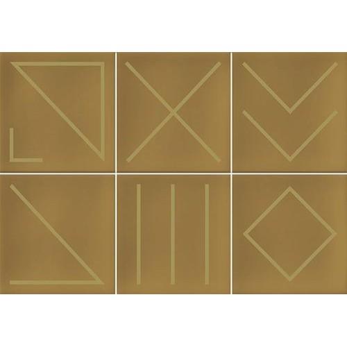 Faïence géométrique caramel/doré 23x33.5 NAGANO CARAMELO -   - Echantillon Vives Azulejos y Gres