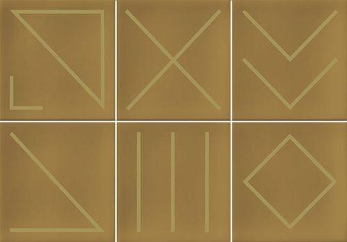 Faïence géométrique caramel/doré 23x33.5 NAGANO CARAMELO -   - Echantillon - zoom