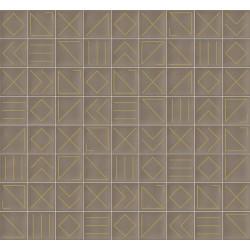 Faïence géométrique beige/doré 23x33.5 NAGANO NUEZ -   - Echantillon Vives Azulejos y Gres
