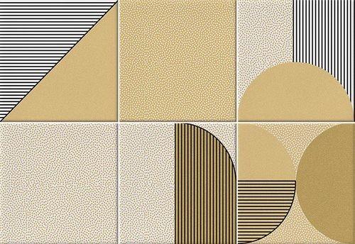 Faïence géométrique caramel 23x33.5 cm NAGO CARAMELO -   - Echantillon - zoom