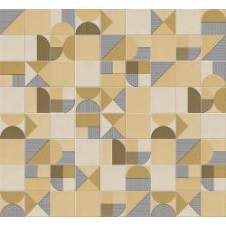 Faïence géométrique caramel 23x33.5 cm NAGO CARAMELO -   - Echantillon Vives Azulejos y Gres