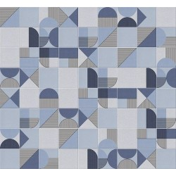 Faïence géométrique bleu marine 23x33.5 cm NAGO INDIGO-   - Echantillon Vives Azulejos y Gres