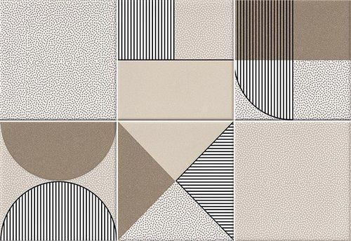 Faïence géométrique beige/marron 23x33.5 NAGO NUEZ -   - Echantillon - zoom