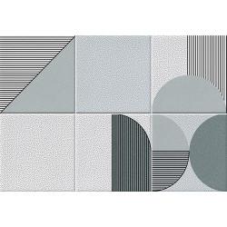 Faïence géométrique turquoise 23x33.5 cm NAGO TURQUESA-   - Echantillon Vives Azulejos y Gres