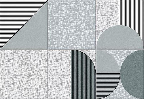 Faïence géométrique turquoise 23x33.5 cm NAGO TURQUESA-   - Echantillon - zoom