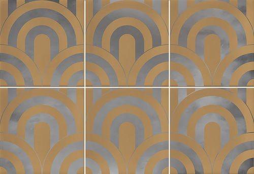 Faïence écaille caramel/argent 23x33.5 TAKADA CARAMELO PLATA - 1 unité - Echantillon - zoom