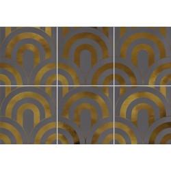 Faïence écaille gris/or 23x33.5 TAKADA MARENGO ORO - 1 unité - Echantillon Vives Azulejos y Gres