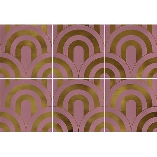 Faïence écaille rose/or 23x33.5 TAKADA MARSALA ORO - 1 unité - Echantillon Vives Azulejos y Gres