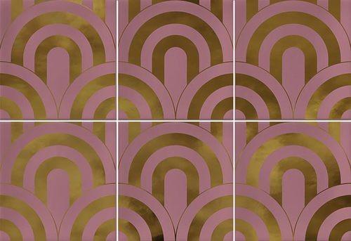 Faïence écaille rose/or 23x33.5 TAKADA MARSALA ORO - 1 unité - Echantillon - zoom
