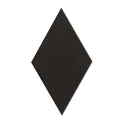 Carrelage losange diamant 14x24cm noir lisse ref. 22693 RHOMBUS MAT -   - Echantillon Equipe