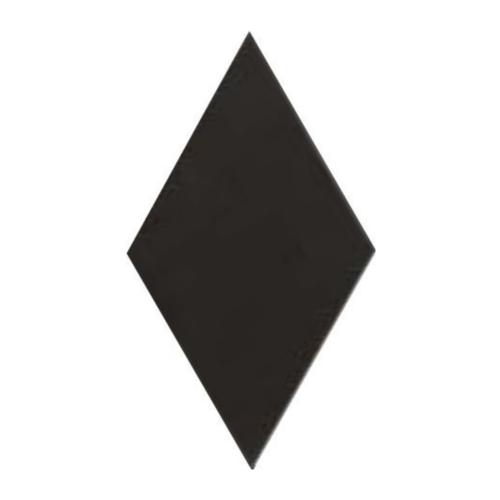 Carrelage losange diamant 14x24cm noir lisse ref. 22693 RHOMBUS MAT -   - Echantillon - zoom