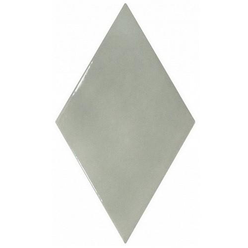 Faience losange vert de gris brillant 15x26cm RHOMBUS WALL MIST GREEN 22753 -   - Echantillon - zoom