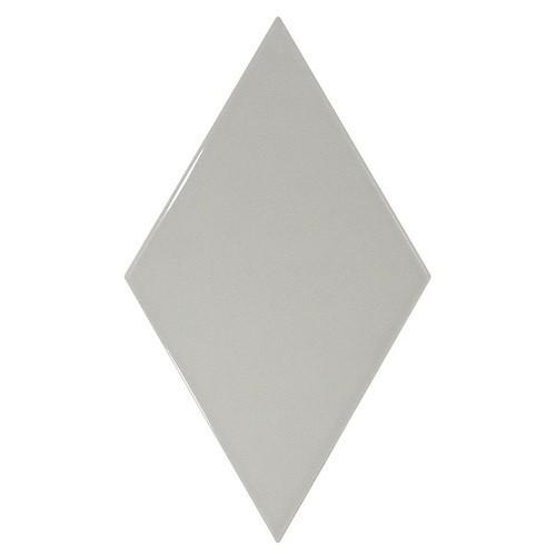 Faience losange gris clair brillant 15x26cm RHOMBUS WALL LIGHT GREY 22750 -   - Echantillon Equipe