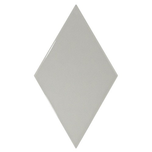 Faience losange gris clair brillant 15x26cm RHOMBUS WALL LIGHT GREY 22750 -   - Echantillon - zoom