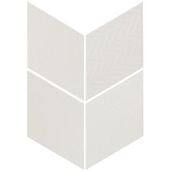 Carrelage losange diamant 14x24cm blanc cassé 21294 RHOMBUS RELIEF MAT -   - Echantillon Equipe