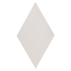 Carrelage losange diamant 14x24cm blanc cassé lisse ref. 22688 RHOMBUS MAT -   - Echantillon Equipe