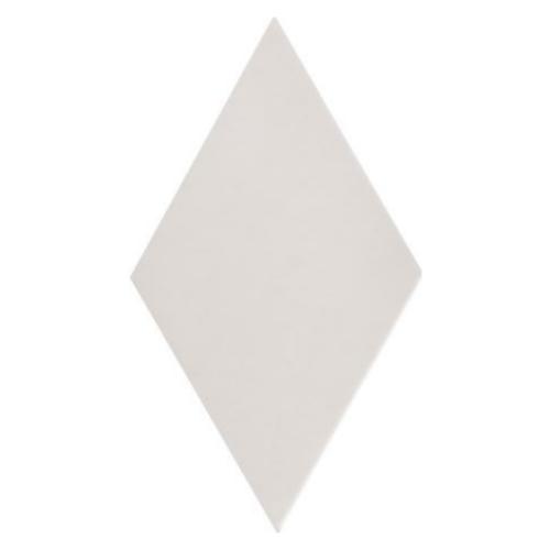 Carrelage losange diamant 14x24cm blanc cassé lisse ref. 22688 RHOMBUS MAT -   - Echantillon - zoom