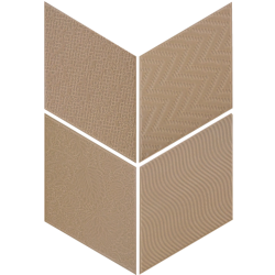 Carrelage losange diamant 14x24cm taupe relief ref. 21292 RHOMBUS MAT -   - Echantillon Equipe