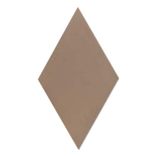 Carrelage losange diamant 14x24cm taupe lisse ref. 22690 RHOMBUS MAT -   - Echantillon Equipe
