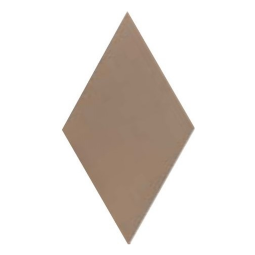 Carrelage losange diamant 14x24cm taupe lisse ref. 22690 RHOMBUS MAT -   - Echantillon - zoom
