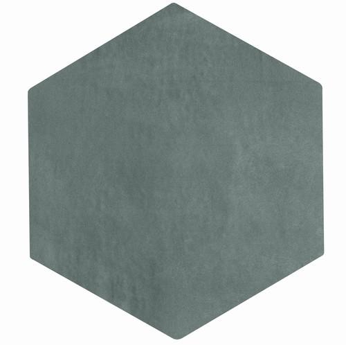 Carrelage tomette gris bleu 22.5x26cm CONCRET PARIS - 0.6  - Echantillon - zoom