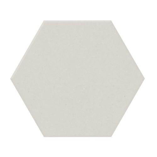 Carrelage tomette design unie Blanc cassé FARINA 15x17cm NEW PANAL - 0.  - Echantillon - zoom
