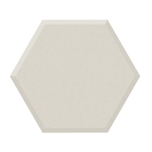 Carrelage tomette design unie Blanc cassé FARINA BISEAUTÉ 15x17cm NEW PANAL - 0.  - Echantillon - zoom