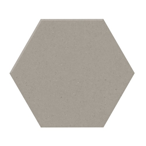 Carrelage tomette design unie Gris taupe STORM 15x17cm NEW PANAL - 0.  - Echantillon - zoom