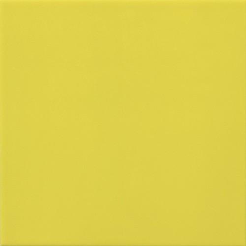 Faience murale 10x10 cm unie brillante BASIC JAUNE LIMON- 0.  - Echantillon Ribesalbes