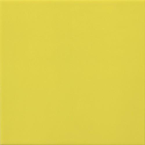 Faience murale 10x10 cm unie brillante BASIC JAUNE LIMON- 0.  - Echantillon - zoom