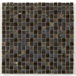 Glas naturstein brun 1.5x1.5 cm - 30x30 - unité - Echantillon Barwolf