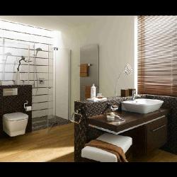 Mosaique verre marron salle bain Glas naturstein brun 2.3x2.3 - 30x30 cm - unité - Echantillon Barwolf