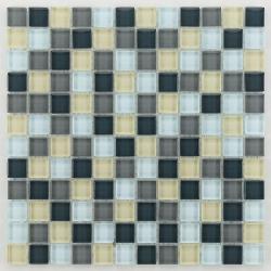 Glasmosaik silver grey mix 2.3x2.3 cm - 30x30 - unité - Echantillon Barwolf