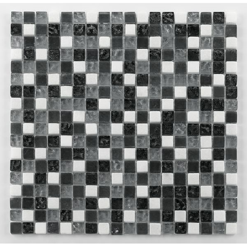 Glasnaturstein tuscany silver grey 1.5x1.5 cm - 30x30 - unité - Echantillon - zoom