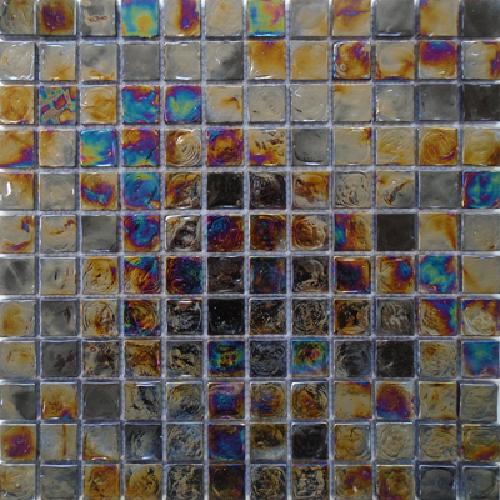 Malla Boreal Noche - Mosaique en verre 30x30cm - unité - Echantillon - zoom