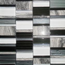 Malla Etrusco Negro - Mosaique en verre - Echantillon Decora