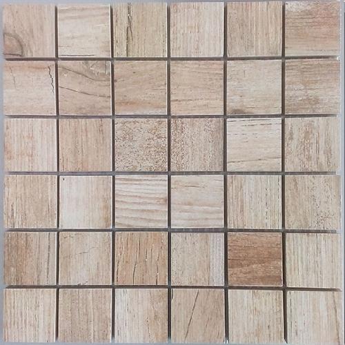 Malla Forest Beige - Mosaique imitation bois - grès cérame 29x29cm - unité - Echantillon - zoom