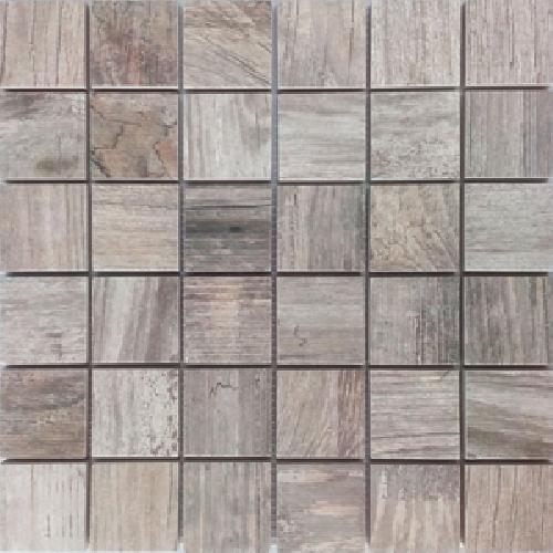 Malla Forest Gris - Mosaique imitation bois - grès cérame 29x29cm - unité - Echantillon - zoom