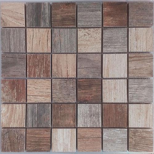 Malla Forest Mix - Mosaique imitation bois - grès cérame 29x29cm - unité - Echantillon - zoom