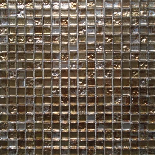 Malla Graffiti Gold - Mosaique en verre 30x30cm - unité - Echantillon - zoom
